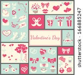 valentine's elements for your... | Shutterstock .eps vector #166885247