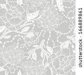 vector floral seamless pattern  | Shutterstock .eps vector #166889861