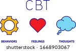 cognitive behaviour therapy  ...   Shutterstock .eps vector #1668903067