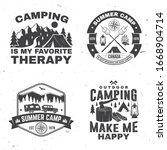 set of outdoor adventure...   Shutterstock .eps vector #1668904714