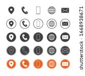 icon set pack with black and... | Shutterstock .eps vector #1668938671