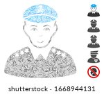 dash mosaic based on evil army... | Shutterstock .eps vector #1668944131