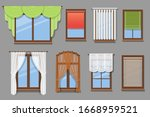 illustration of various window... | Shutterstock .eps vector #1668959521