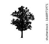 tree silhouettes on white...   Shutterstock .eps vector #1668971971