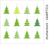 christmas vector tress | Shutterstock .eps vector #166897211