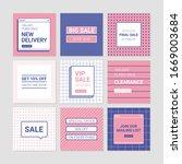 sale banner templates. memphis...   Shutterstock .eps vector #1669003684