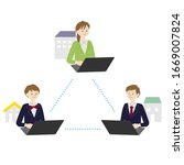 illustration of students...   Shutterstock .eps vector #1669007824