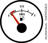 car fuel gauge isolated on a...   Shutterstock .eps vector #1669031821