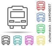 bus multi color style icon....