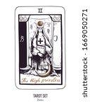 vector hand drawn tarot card... | Shutterstock .eps vector #1669050271