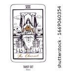 vector hand drawn tarot card... | Shutterstock .eps vector #1669060354