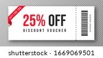discount voucher  gift coupon... | Shutterstock .eps vector #1669069501
