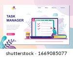 task manager landing page... | Shutterstock .eps vector #1669085077