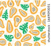 abstract fruit cell pattern... | Shutterstock .eps vector #1669093051