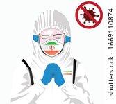 covid 19 or coronavirus concept.... | Shutterstock .eps vector #1669110874