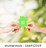eco  family and real estate... | Shutterstock . vector #166912319