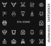 editable 22 evil icons for web... | Shutterstock .eps vector #1669160614