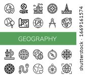set of geography icons. such as ... | Shutterstock .eps vector #1669161574
