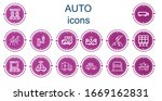editable 14 auto icons for web...   Shutterstock .eps vector #1669162831