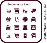 e commerce icon set. 16 filled... | Shutterstock .eps vector #1669163161