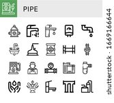 set of pipe icons. such as gas...   Shutterstock .eps vector #1669166644