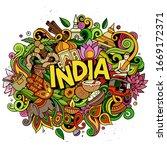 India Hand Drawn Cartoon...