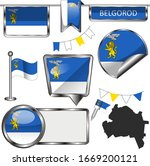 vector glossy icons of flag of... | Shutterstock .eps vector #1669200121