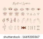 mystical and celestial symbols. ... | Shutterstock .eps vector #1669200367
