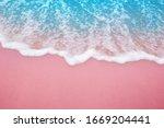 Summer Pink Sands Beach With...