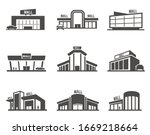 shopping mall or center icon or ... | Shutterstock .eps vector #1669218664