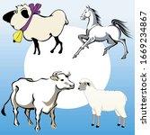 cartoon illustrations of... | Shutterstock .eps vector #1669234867
