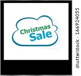 christmas sale word cloud on... | Shutterstock . vector #166924055