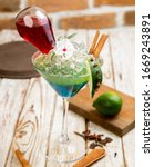 exotic drinks  exotic cocktails ... | Shutterstock . vector #1669243891