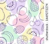 seamless pattern with hand... | Shutterstock .eps vector #1669272274