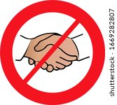no handshake icon with red... | Shutterstock .eps vector #1669282807