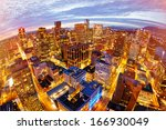 Stock photo view from city tower in vancouver 166930049
