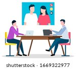 online communication with...   Shutterstock .eps vector #1669322977