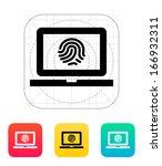 laptop fingerprint icon. vector ...