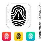 fingerprint scan error icon....