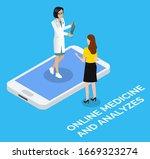 doctor consulting patient... | Shutterstock .eps vector #1669323274