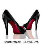 vector high heel shoes