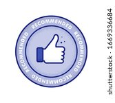 recommended icon. line label... | Shutterstock .eps vector #1669336684