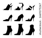 woman's high heel shoes...