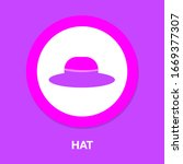 american hat icon. simple...