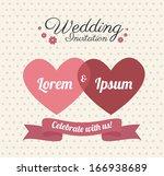 love design over dotted  ... | Shutterstock .eps vector #166938689
