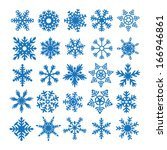 snowflake set winter elements | Shutterstock . vector #166946861