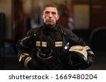 Firefighter Portrait Wearing...