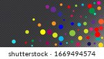 rainbow confetti hipster vector ... | Shutterstock .eps vector #1669494574