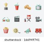 cinema icons   Shutterstock .eps vector #166949741