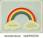 vintage spotted background with ... | Shutterstock .eps vector #166950254